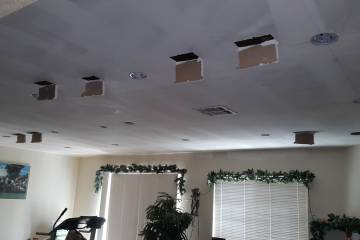 Opening Ceiling for Recessed Lights Wires - 4