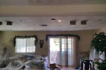 Opening Ceiling for Recessed Lights Wires - 2
