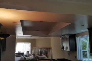 Removing Popcorn Ceiling - 1