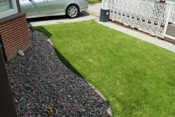 AFTER Front Yard Turf Installation - 7