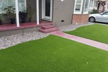 AFTER Front Yard Turf Installation - 1