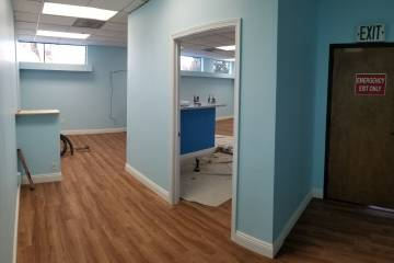 Reception Area from Dental Rooms View
