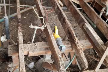 Old Foundation and Floor Joists  - 8