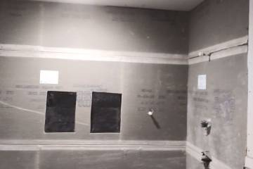 Bathroom Interior Lath and Waterproofing  - 1